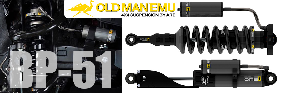 Стойка амортизаторная в сборе Old Man Emu OME BP5190001R Toyota Hilux Vigo 05-15 BP-51 High Performance передняя правая лифт 50 мм